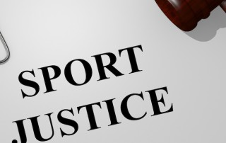 Render illustration of Sport Justice Title On Legal Documents